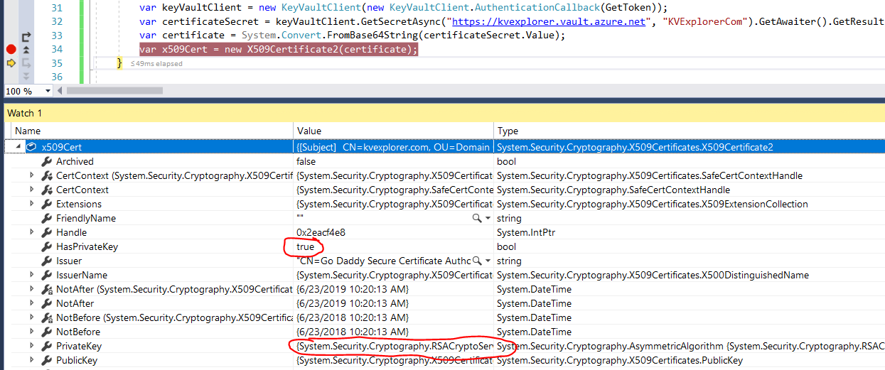 Azure Identity Azure Key Vault Certificates And Private Keys